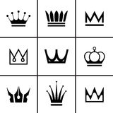 Royal Crown icons set Royalty Free Stock Photography