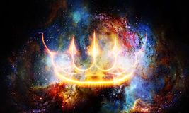 Free Royal Crown In Cosmic Space. Light Crown. Stock Photography - 146088292