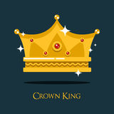 Royal crown for king or princess, queen gold tiara Royalty Free Stock Photography