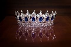Royal crown for king or queen. Symbol of power and wealth. Royal crown for king or queen. Symbol of power stock photos
