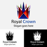 Royal Crown Logo Set -  On Black Background - Vector Illustration, Graphic Design, Editable For Your Design Royalty Free Stock Photography