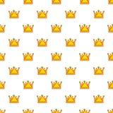 Royal crown pattern seamless Royalty Free Stock Photos