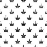 Royal crown pattern, simple style Royalty Free Stock Photos