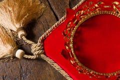 Royal crown on red velvet Stock Photo