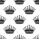 Royal crown seamless background pattern Royalty Free Stock Photo