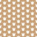 Royal crown seamless vector pattern Royalty Free Stock Photo