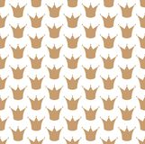 Royal crown seamless vector pattern Stock Image