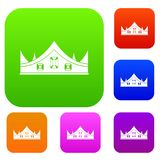 Royal crown set color collection Stock Images