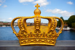 Royal crown in Stockholm. Stock Photo