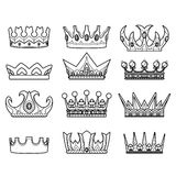 The royal crown - vector illustration Royalty Free Stock Images