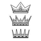 The royal crown - vector illustration Stock Photography