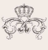 Royal Crown Vintage Curves Banner Stock Photography