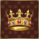 Royal crown vintage Stock Photos