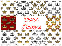 Royal crowns seamless patterns Stock Photography