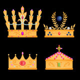 Royal crowns set Stock Photo