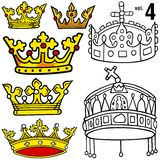 Royal Crowns vol.4 Royalty Free Stock Images