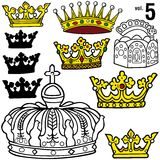 Royal Crowns vol.5 Royalty Free Stock Photos