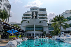 The Royal Cruise hotel A-ONE with unique cruise design. Stock Image