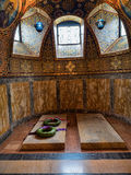Royal crypt. Tombs of the royal family of Karadjordjevic in the crypt of the Oplenac church Royalty Free Stock Photos