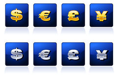 Royal Currency Signs Royalty Free Stock Images