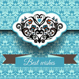 Royal damask  ornament  frame background Royalty Free Stock Photo