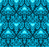 Royal Damask Seamless Vector Pattern Royalty Free Stock Photo