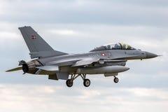 Royal Danish Air Force General Dynamics F-16BM `Fighting Falcon` fighter aircraft ET-614. RAF Waddington, Lincolnshire, UK - July 7, 2014: Royal Danish Air Stock Images