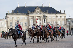 Royal Danish guard Stock Image