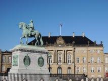 Royal Danish Palace Amalienborg in Copenhagen Stock Images