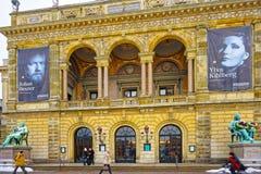 Royal Danish Theater in Copenhagen in winter Stock Photos