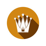 Royal design element, regal icon. Stylish majestic 3d crown, lux Royalty Free Stock Photo