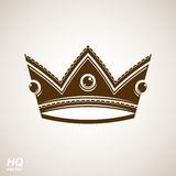 Royal design element, regal icon. Vector majestic crown, Stock Images