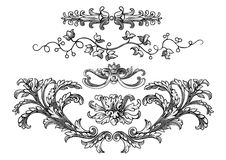 Royal design elements vector Royalty Free Stock Photography
