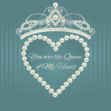 Royal design template. Love valentine card. Stock Photography
