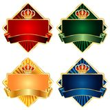 Royal diamond. Labels for various products like food, beverages, cosmetics etc Royalty Free Stock Photo