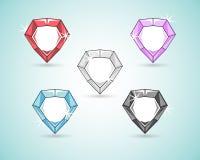 Royal diamond color set Royalty Free Stock Images