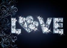 Royal Diamond love banner Royalty Free Stock Images