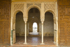 Royal door of Generalife. Stock Photos