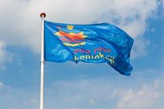 Royal Dutch-Flagge für das Feiern von 200 Jahren kingdo Lizenzfreie Stockbilder