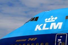Royal Dutch linii lotniczych KLM Air France kokpit Obrazy Royalty Free
