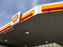 Petrol station of Shell royalty free stock photography