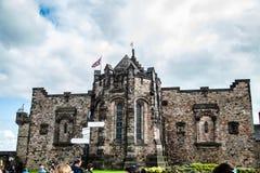The Royal Edinburgh Castle Scotland Old Town royalty free stock photography