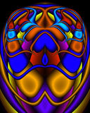 A Royal Egyptian Fractal Scarab. A fractal image in the form of an Egyptian scarab in royal tones Royalty Free Stock Photos