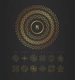 Royal Elegant linear abstract monogram, vector template. Stock Image