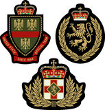 Royal emblem badge shield Royalty Free Stock Images