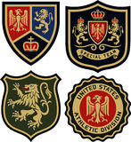 Royal emblem badge shield Stock Images