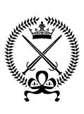 Royal emblem with crossed swords Stock Photo