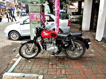 Royal Enfield. Bike of India Speed Of Life Royalty Free Stock Photo