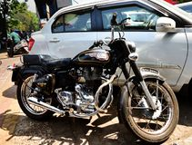 Royal Enfield Bullet 350. Classic Royal Enfield Bullet 350 in Goa India Stock Images