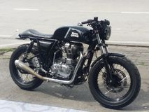 Royal enfield. Motocycle cafe rodster Royalty Free Stock Photo